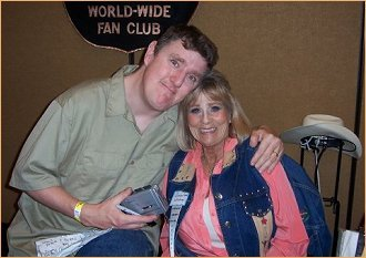Pat interviewing Grace Lee Whitney