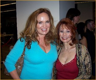 With Catherine Bach