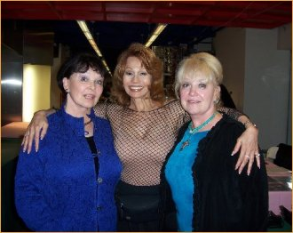 With Yvonne Craig and sister Maridel