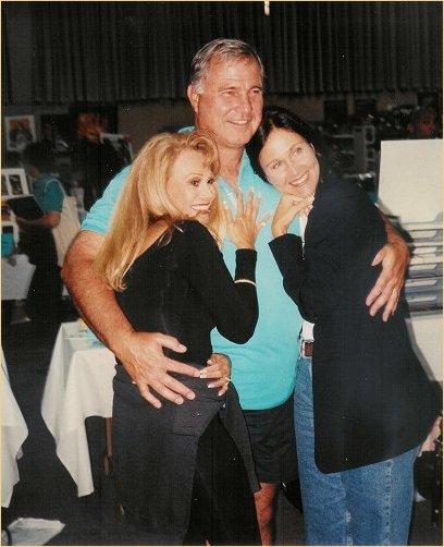 At a convention with Gil Gerard and Erin Gray