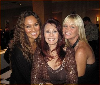 With Tia Carrere and Julie McCullough
