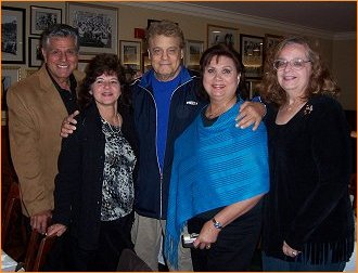 Old friends Dick Gautier and Buddy Bregman with Mary, Antoinette and Kathy