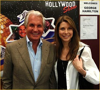 Toni Williams and George Hamilton