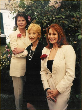 With Maud Adams and France Nuyen