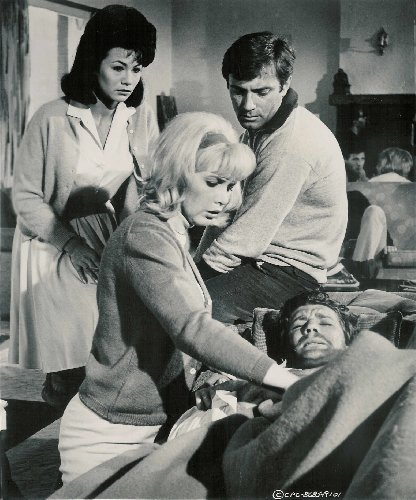 With Alejandro Rey and Stella Stevens in Synanon