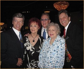 Wade Collings, Carol Lawrence, Joe Tremaine, Denny Dugan and Betty White