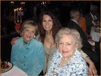 With Florence Henderson and Betty White