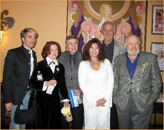 James Cawley held a premier at the Fine Arts Theatre for Walter Koenig. Mrs. Koenig, Walter, moi, Michael Forest and Malachi Throne.