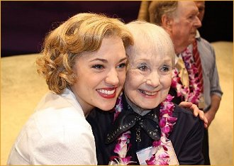 Laura Osnes hugs Iva Withers