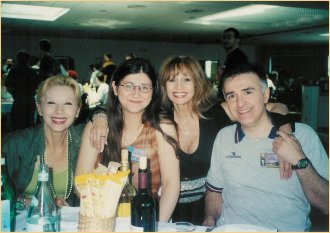 With Jessica and Massimo and France Nuyen