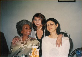 With Nichelle Nichols and promoter Jessica