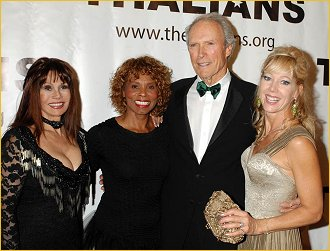 Clint with me and Bond gals Gloria Hendry and Lynn-Holly Johnson