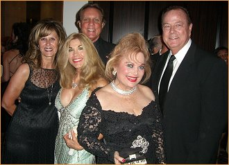 Police Chief David Snowden with wife Ellyn, Barbie, Carol  and  Jay Johnstone