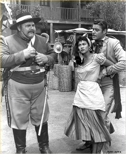 With Henry Calvin and Guy Williams in Zorro