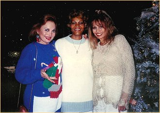 With Carol Connors and Dionne Warwick